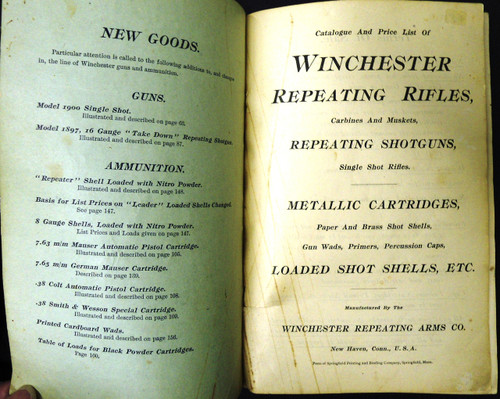 Winchester Catalog No. 65 April 1900