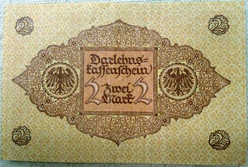German Pre-WWII 2 (Zwei) Mark Paper Currency