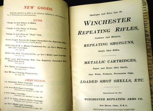 Winchester Catalog No. 74 * 1908 - Salesman's Copy