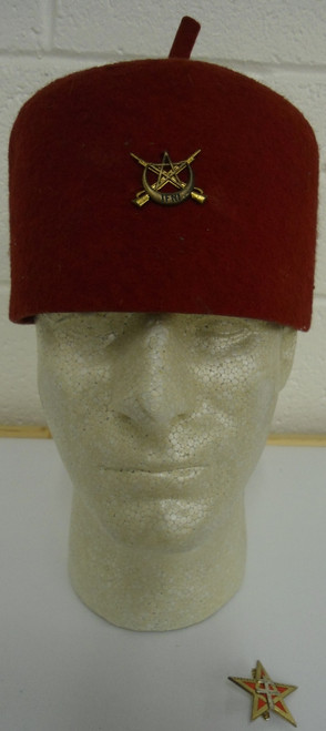French North African Fez with Hat Pins