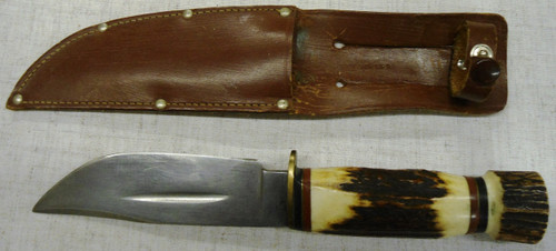 IXL George Wostenholm Stag Handled Knife w/Sheath