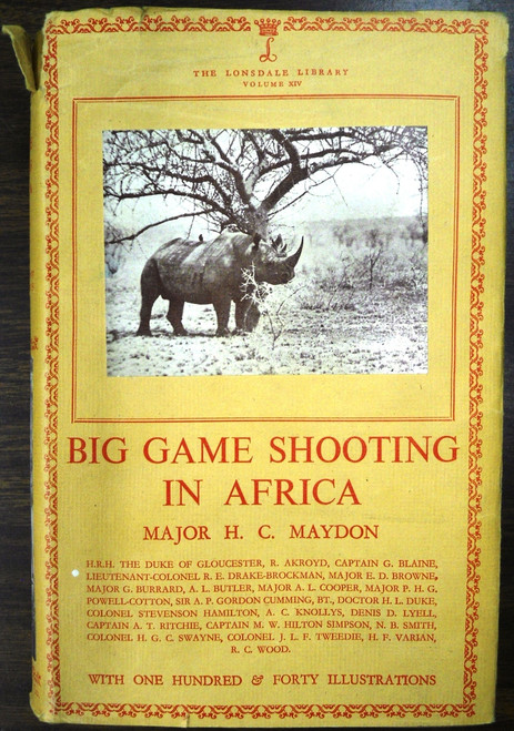 Big Game Shooting in Africa by Maj. H.C. Maydon
