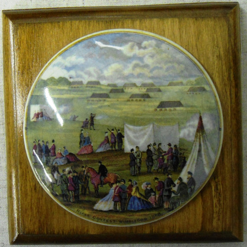Pratt Pot Lid Commemorating the NRA Meeting of 1868