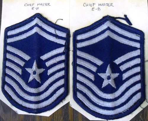 Pair of U.S. Air Force Senior Master Sergeant Shoulder Patches