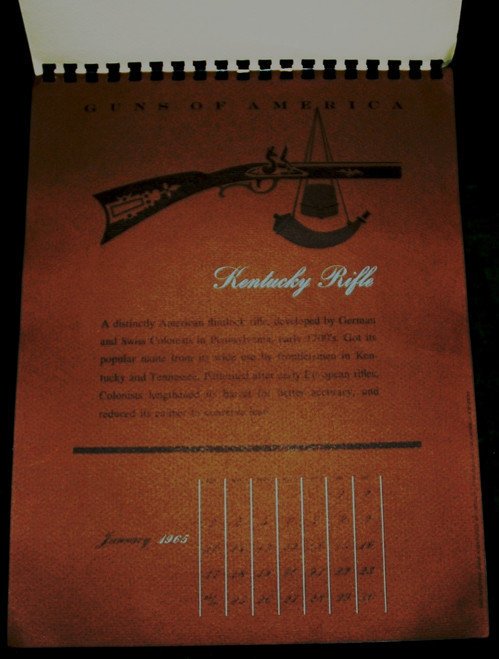 Guns of America Calendar 1965