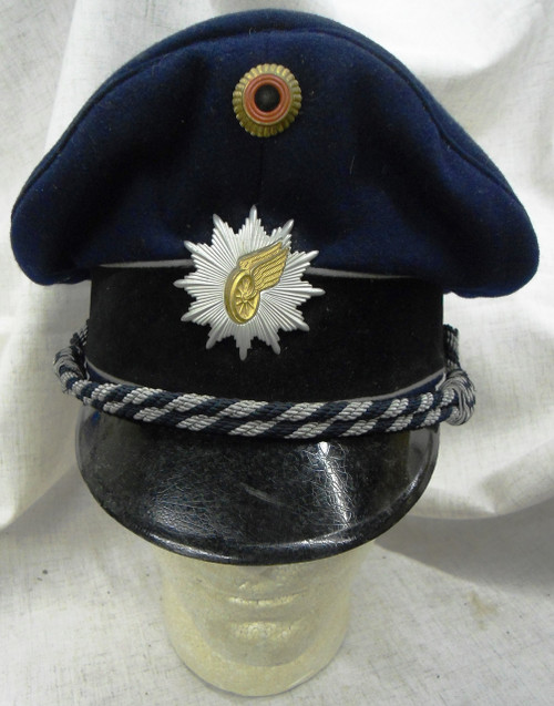 German Railway Police Visor Cap with Hat Badge & Cockade - circa 1970's