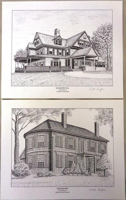 Scott Kiefer Past President's House Print - Set of 2