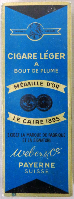 Medaille D'or Le Caire 1895 Weber & Co. Payerne Suisse Cigar Box
