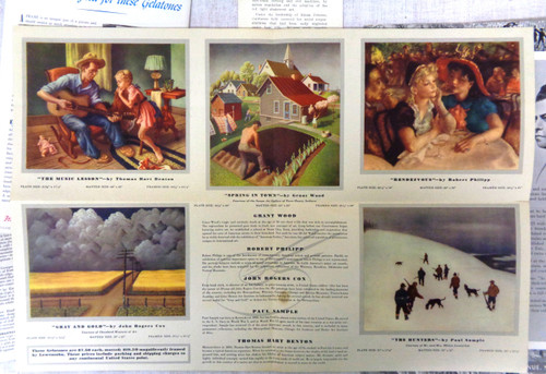 Associated American Artists Gelatones Pamphlet & Flyers circa 1960's