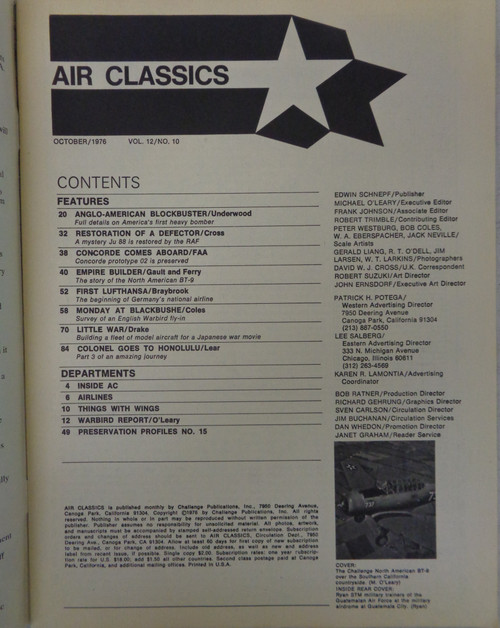 Air Classics Vol. 12 No. 10 October 1976