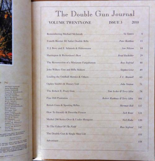 The Double Gun & Single Shot Journal Autumn 2010