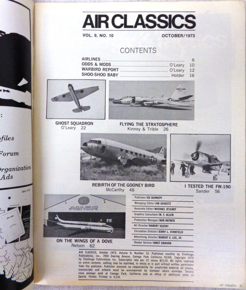 Air Classics Vol. 9 No. 10 October 1973