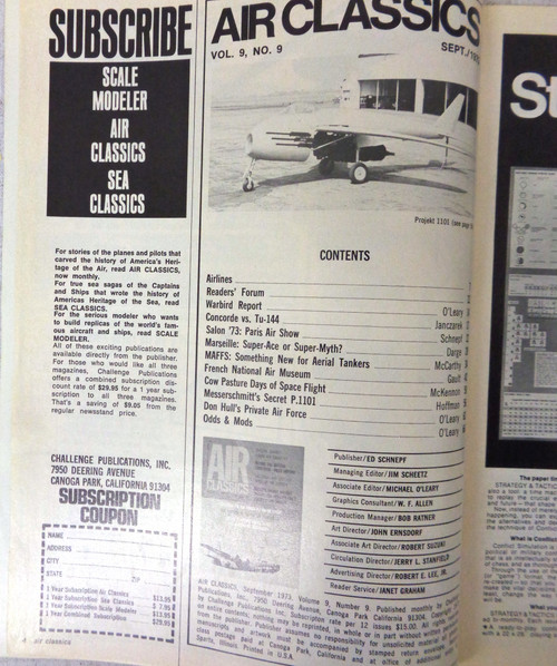 Air Classics Vol. 9 No. 9 September 1973