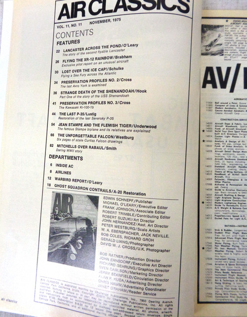 Air Classics Vol. 11 No. 11 November 1975