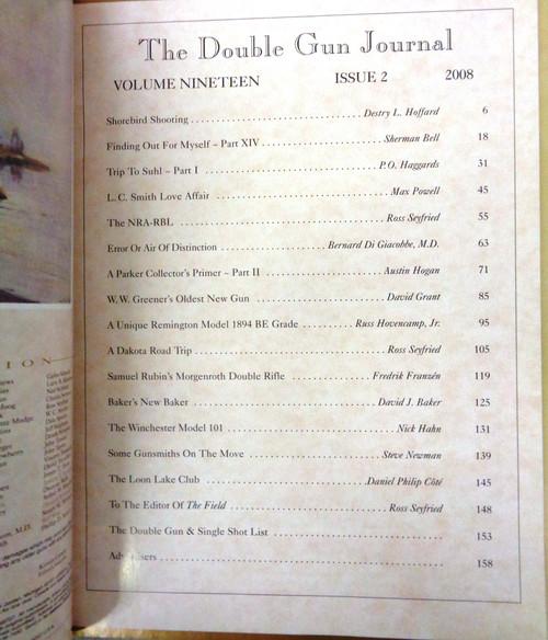 The Double Gun & Single Shot Journal Summer 2008