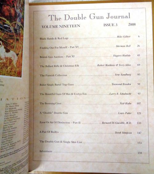 The Double Gun & Single Shot Journal Autumn 2008