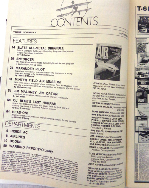 Air Classics Vol. 19 No. 9 September 1983