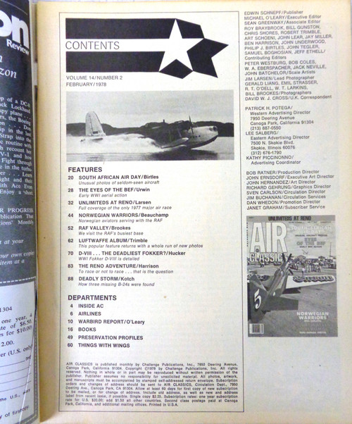 Air Classics Vol. 14 No. 2 February 1978