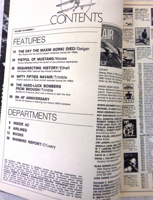 Air Classics Vol. 18 No. 7 July 1982