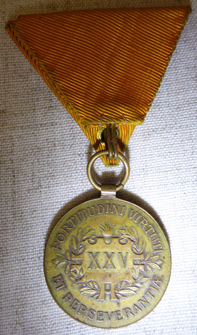 Austro-Hungarian WWI 25 Years Long Service in Fire Fighting and Life Saving Medal