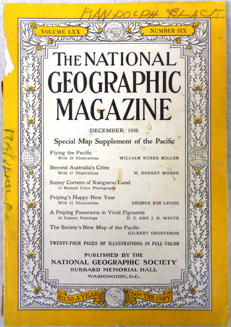 The National Geographic Magazine Volume 70 Number 6 December 1936