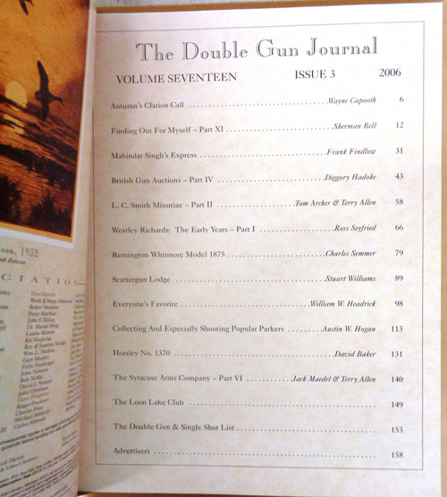 The Double Gun & Single Shot Journal Autumn 2006