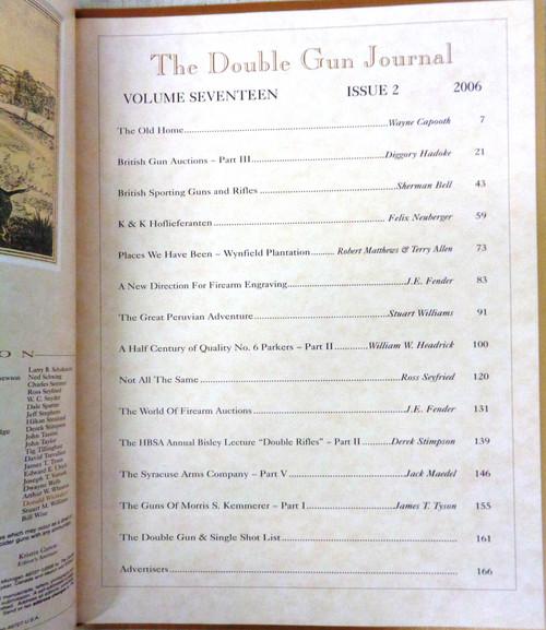 The Double Gun & Single Shot Journal Summer 2006