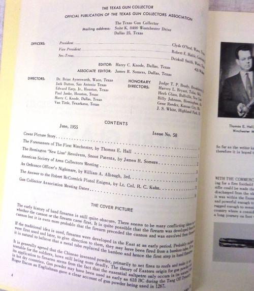 The Texas Gun Collector Issue No. 59 June 1955