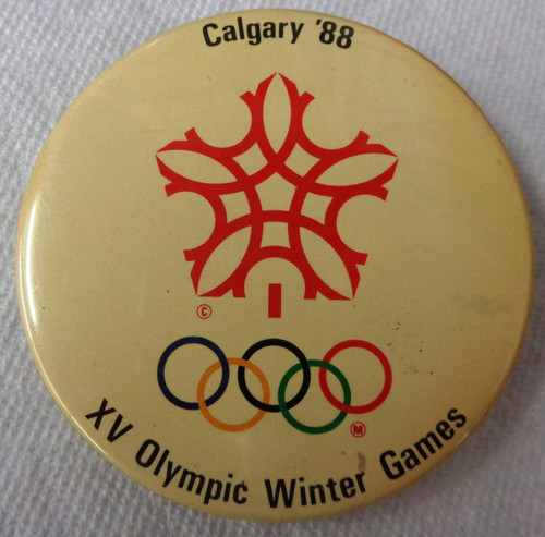 Calgary 1988 Olympic Winter Games Button