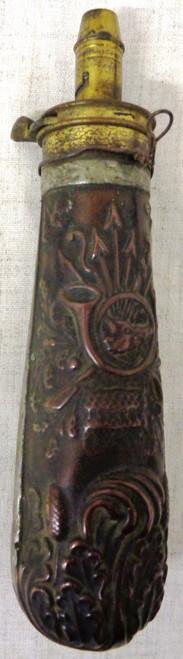Boars Head Copper Bodied Powder Flask