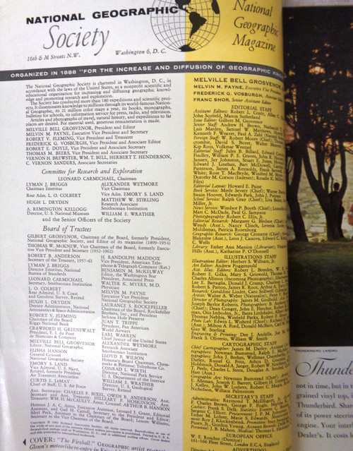 National Geographic Magazine Vol. 121 No. 6 June 1962