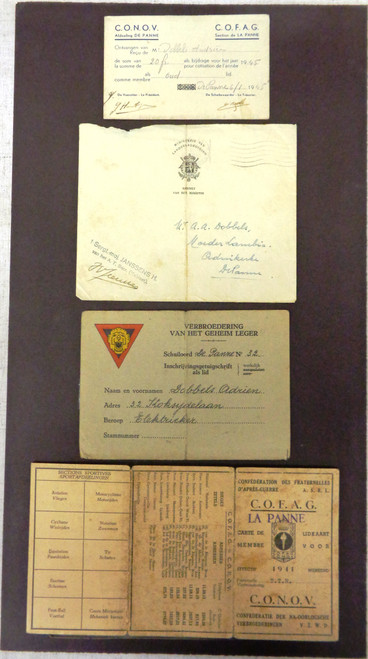 Belgium WWII Membership & Fraternity Papers