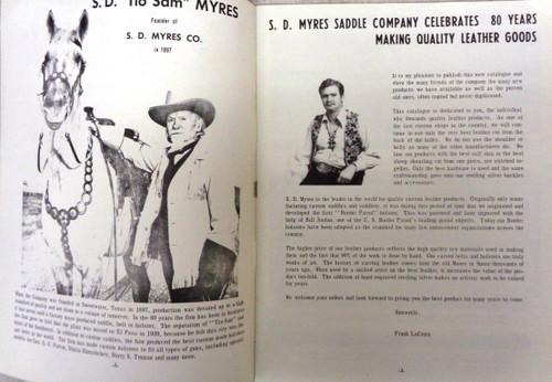 S.D. Myres Saddle Co. Catalog 1977