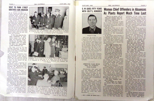 The Coltsman Newsletter Vol. II No. 1 January 1943