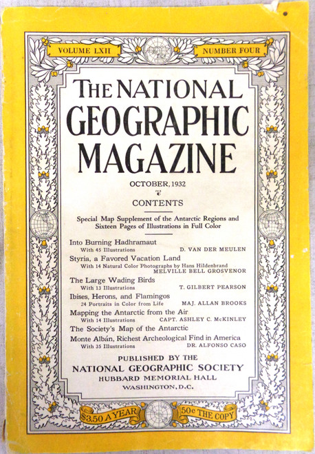 National Geographic Magazine Vol. 62 No. 4 October 1932