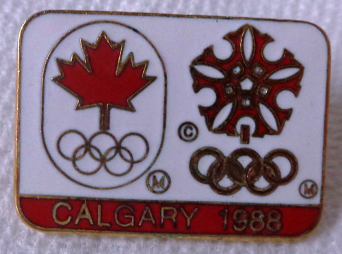 Calgary 1988 Olympics Winter Games Pin