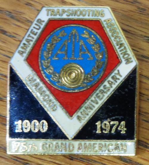 Amateur Trapshooting Association (ATA) Diamond Anniversary Pin