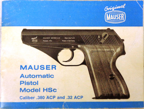 Mauser Automatic Pistol Model HSc Owners Manual 1974