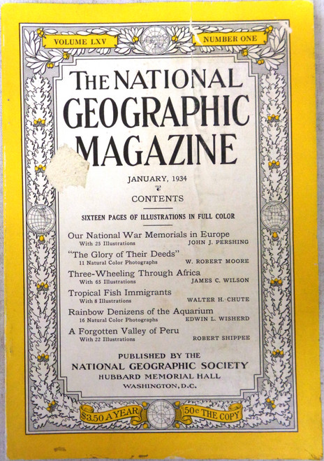 National Geographic Magazine Vol. 65 No. 1 January 1934