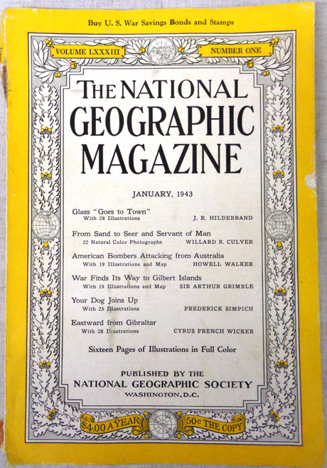 National Geographic Magazine Vol. 83 No. 1 January 1943