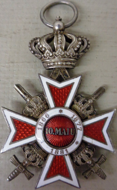 Romanian WWII Order of the Crown Medal - Knights Class - circa 1932 - 1947