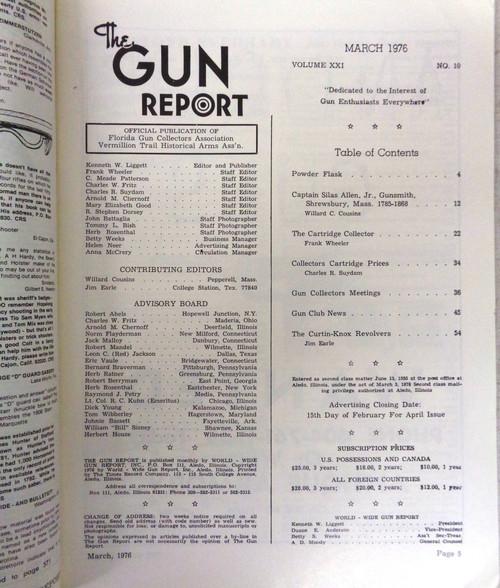 The Gun Report Vol. 21 No. 10 March 1976