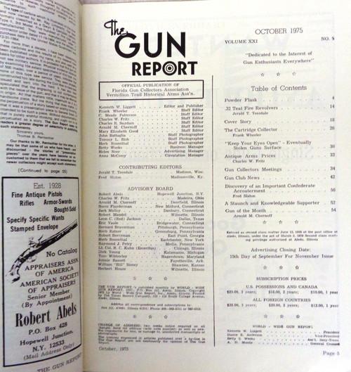 The Gun Report Vol. 21 No. 5 October 1975