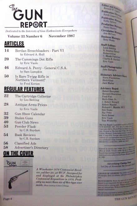 The Gun Report Vol. 33 No. 6 November 1987