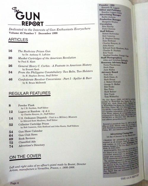 The Gun Report Vol. 45 No. 7 December 1999