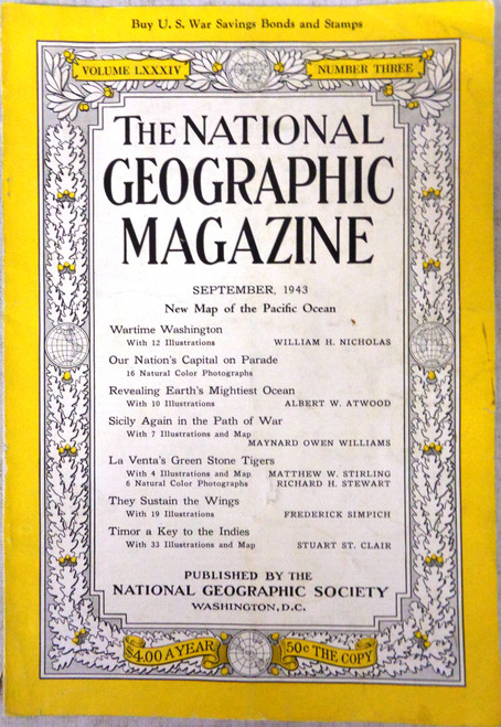 National Geographic Magazine Vol. 084 No. 3 September 1943