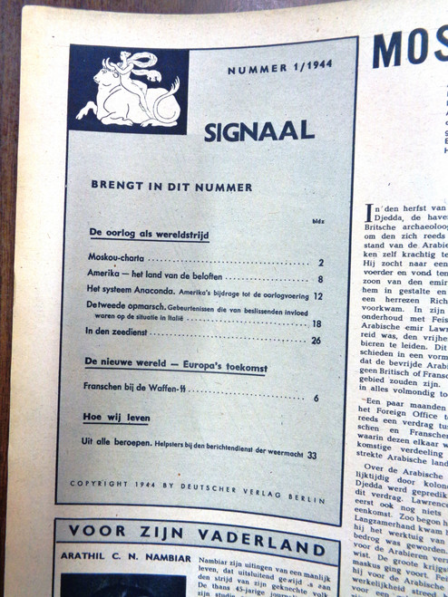 Dutch Signaal Magazine No. 1 1944