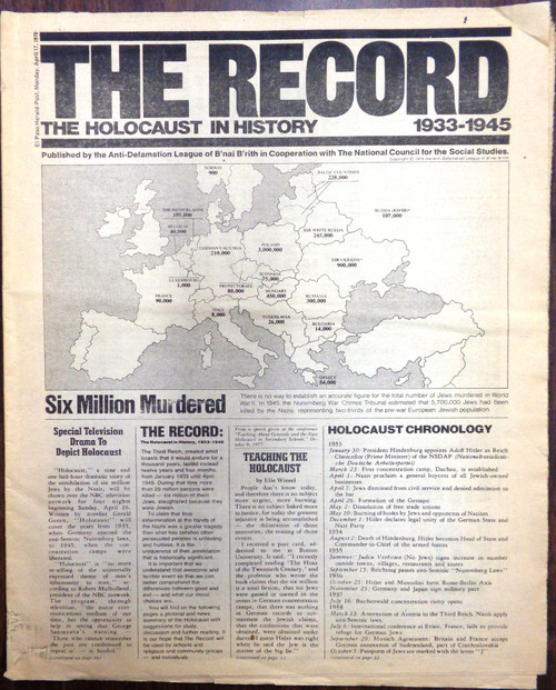 El Paso Herald Post, Monday, April 17, 1978, The Record: The Holocaust in History 1933-1945