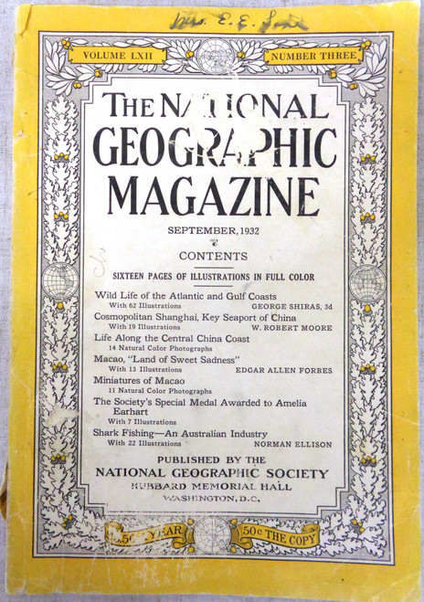 National Geographic Magazine Vol. 62 No. 3 September 1932