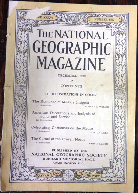 National Geographic Magazine Vol. 036 No. 6 December 1919